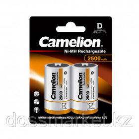 Аккумулятор Camelion Rechargeable, бочонок D, Ni-MH, 2500 mAh 1.2V, 2 шт./уп., цена за упаковку