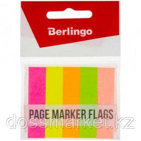 Закладки самоклеящиеся Berlingo, бумажные, 50*12 мм, 5 цветов НЕОН, 250 листов