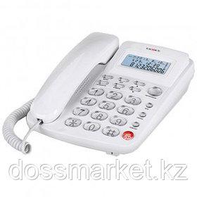 """Телефон проводной Texet """"TX-250"""", белый"""