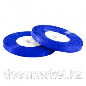 Лента атласная для прошивки документов, синяя, 27 м, ширина 5 мм
