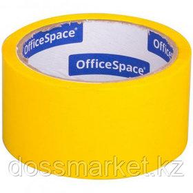 Упаковочная клейкая лента OfficeSpace, ширина ленты 48 мм, длина намотки 40 м, желтая
