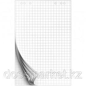 Блок бумаги для флипчарта OfficeSpace, размер 675*980 мм, 10 листов, белый, в клетку