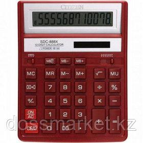 Калькулятор настольный Citizen SDC-888XRD, 12 разрядов, 203*158*31 мм