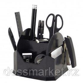Настольный органайзер Attache, 15 предметов, вращающийся, черный