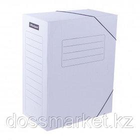 Папка архивная OfficeSpace, 150*235*325 мм, вместимость 1400 листов, на резинках, белая