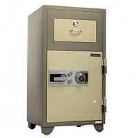 Ночной депозитный сейф President ND200, механический код + 2 ключа + ручка, с выдвижним ящиком