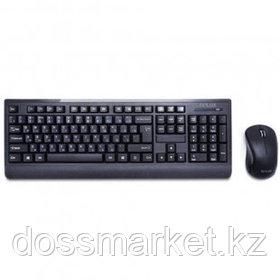 Беспроводной набор Delux DLD-6091OGB, клавиатура и оптическая мышь, нано-ресивер, черный