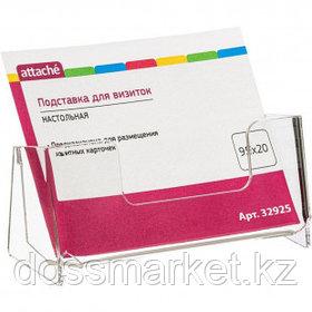 Подставка для визитных карточек Attache, 95*20 мм, акрил