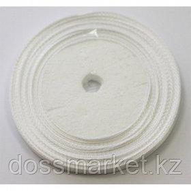 Лента атласная для прошивки документов, белая, 100 м, ширина 6 мм, 3 шт/упак