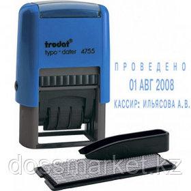 Датер самонаборный Trodat 4755, высота шрифта 4 мм, металл/пластик
