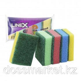 Губки для мытья посуды Linex, в комплекте 5 шт.