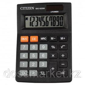 Калькулятор настольный Citizen SDC-022SR, 10 разрядов, 88*127*23 мм