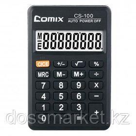 Калькулятор карманный Comix CS-100, 8 разрядный, размеры 59*89,3*9,5 мм