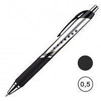 Ручка гелевая автоматическая Attache Selection Galaxy, 0,5 мм, черная, цена за штуку