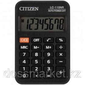 Калькулятор карманный Citizen LC-110NR, 8 разрядный, размеры 58*88*11 мм