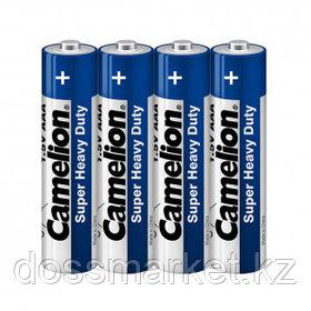 Батарейки Camelion Super Heavy Duty мизинчиковые AAA R03P-SP4B, 1.5V, 4 шт./уп, в пленке