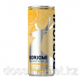 """Вода минеральная """"Боржоми"""", со вкусом цитрусов и имбиря, 0,33 л, жестяная банка"""