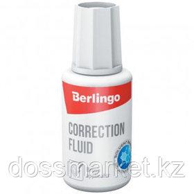 Корректирующая жидкость Berlingo, 20 мл, на химической основе