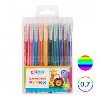 Набор шариковых цветных ручек ArtSpace, 0,7 мм, 10 шт в упаковке, ассорти