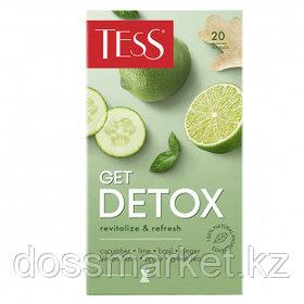 Чай Tess Get Detox, зеленый чай, 20 пакетиков