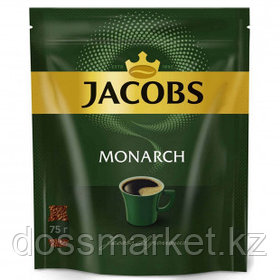 Кофе растворимый Jacobs Monarch, 75 гр, вакуумная упаковка