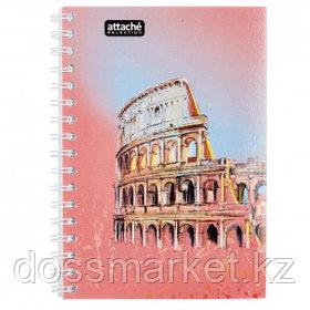 Тетрадь Attache Selection Travel Italy, А6, 80 листов, в клетку, на спирали