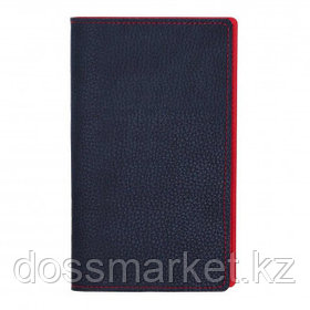 Визитница 3-х рядная Attache Bizon на 96 визиток, искусственная кожа, темно-синяя