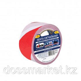 Сигнальная лента Unibob, ширина ленты 50 мм, длина намотки 150 м, красно-белая
