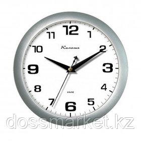 """Часы круглые Камелия """"Серебро"""", d=29 см, серебристые, пластиковые"""