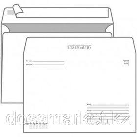 """Конверт горизонтальный KurtStrip, формат С5 (162*229 мм), с подсказом """"Куда-Кому"""", отрывная лента"""