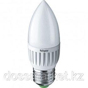 Лампа светодиодная Navigator NLL-C, 5 Вт, 6500К, холодный белый свет, E27, форма свеча