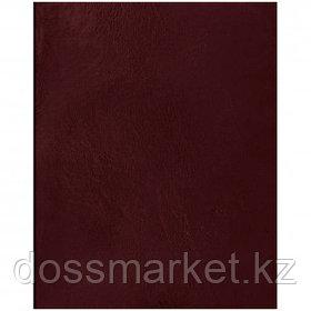 Тетрадь OfficeSpace, А5, 48 листов, в клетку, бумвинил, бордовый