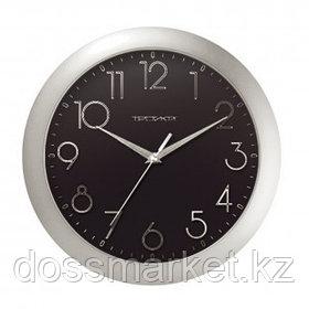 Часы круглые Troyka, d=29 см, черный циферблат, пластиковые