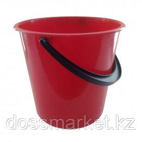 Ведро пластиковое, 10 литров, пищевой, красное