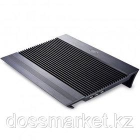 "Подставка для ноутбука DeepCool ""N8"", USB хаб + 4 USB порта, 17"", черная"
