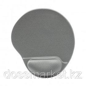 Коврик для мыши Defender EasyWork, серый, гелевая подушка, покрытие тканевое
