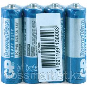 Батарейки GP PowerPlus пальчиковые AA R06 15G, 1.5V, солевые, 4 шт./уп, в пленке