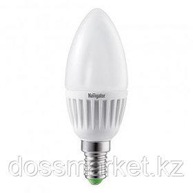 Лампа светодиодная Navigator NLL-C, 5 Вт, 4000К, нейтральный белый свет, E14, форма свеча