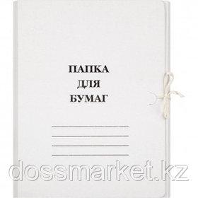 Папка с завязками Attache, А4 формат, мелованная, 380 г/м2