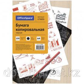 Бумага копировальная OfficeSpace, А4, 100 листов, черная