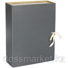 Архивный короб OfficeSpace, 80*240*320 мм, вместимость 700 листов, с завязками, сплошной, ассорти