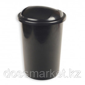 Ведро для мусора с крышкой-вертушкой Uniplast, 12 л, пластик, черное