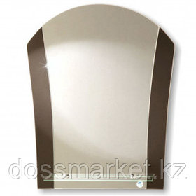 "Зеркало Континент ""Ирис"", размер 540*670 мм, с полочкой"
