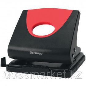 """Дырокол Berlingo """"Office soft"""", захват 20 листов, пластиковый, красный"""