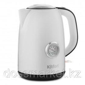 Электрический чайник Kitfort КТ-685, 1,7 л, белый/черный
