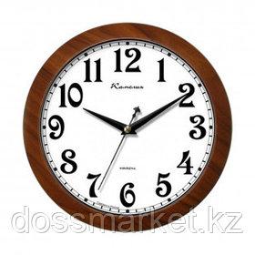 """Часы круглые Камелия """"Орех золотой"""", d=29 см, коричневые, пластиковые"""
