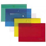 Папка-конверт с кнопкой Berlingo, А4, 180 мкм, до 50 листов, красная, фото 3