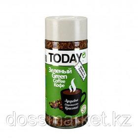 Кофе растворимый Today Green, 95 гр, стеклянная банка