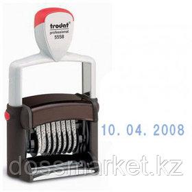 Датер ленточный Trodat 5558 Bank, высота шрифта 5 мм, металлический