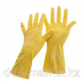 Перчатки для уборки OfficeClean Стандарт+, 1 пара, супер прочные, размер М, латекс, желтые